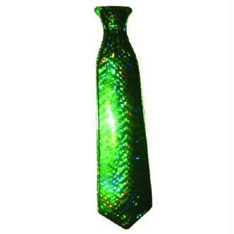 Cravate pvc verte 50 cm