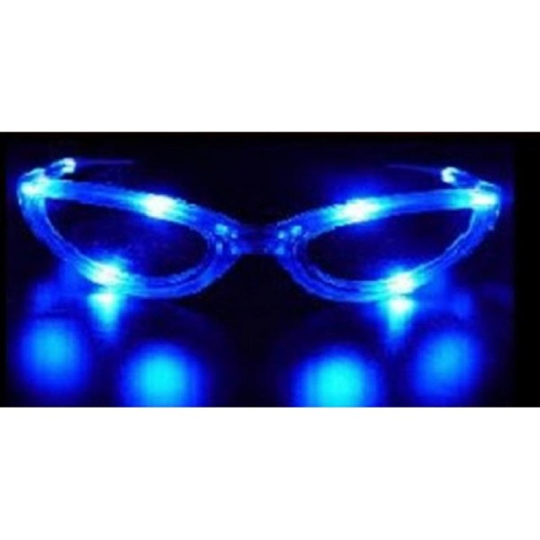 863eb70bdbbe97 Lunettes lumineuses clignotantes bleues - Lunettes adulte - Creavea