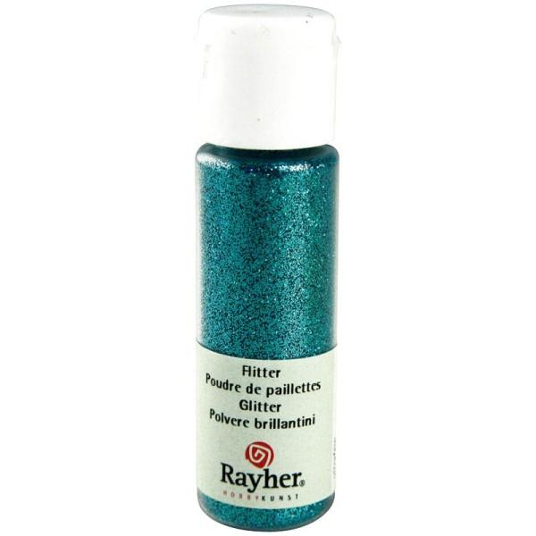 Poudre de paillettes ultrafine Turquoise 20 ml - Photo n°1