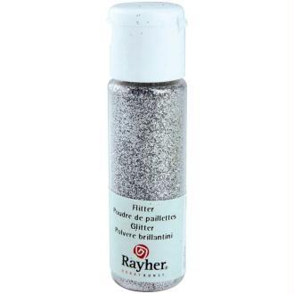 Poudre de paillettes ultrafine Argent brillant 20 ml