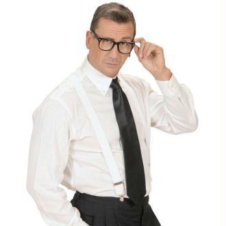 Cravate noire satinée