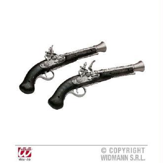 Pistolet de pirate vieilli 30 cm