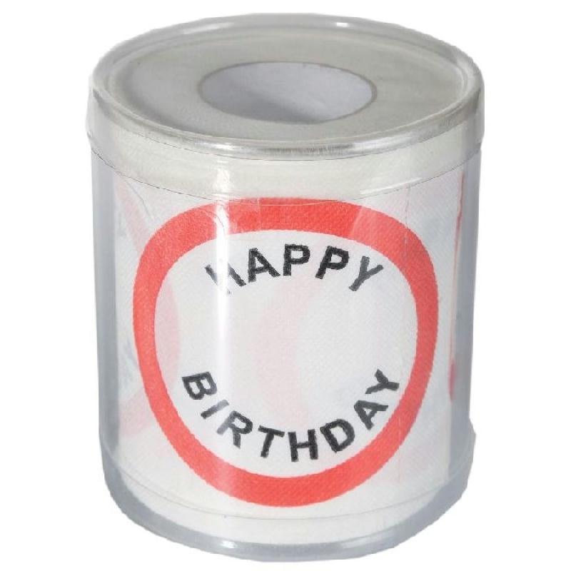 papier toilette happy birthday dans bo te pvc cadeaux humoristiques anniversaire creavea. Black Bedroom Furniture Sets. Home Design Ideas