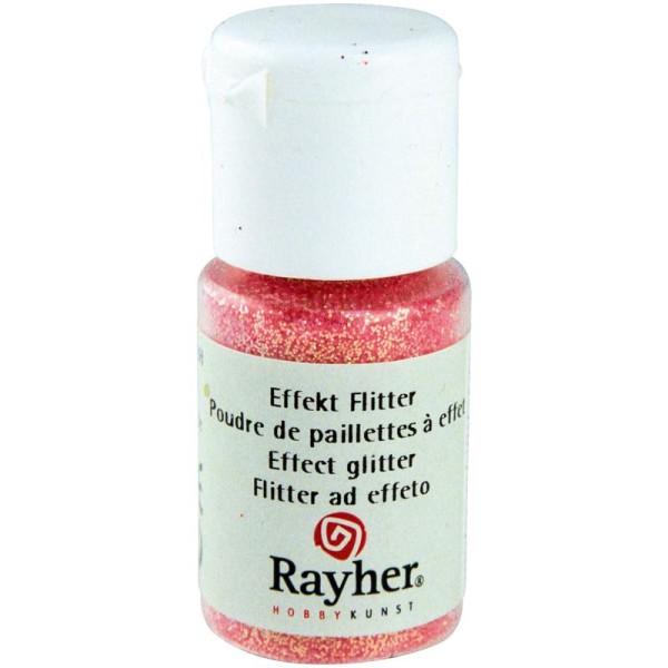 Poudre de paillettes à effet Rose pastel 10 ml - Photo n°1