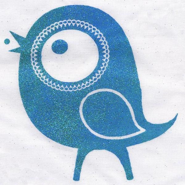 Poudre de paillettes à effet Bleu pastel 10 ml - Photo n°2