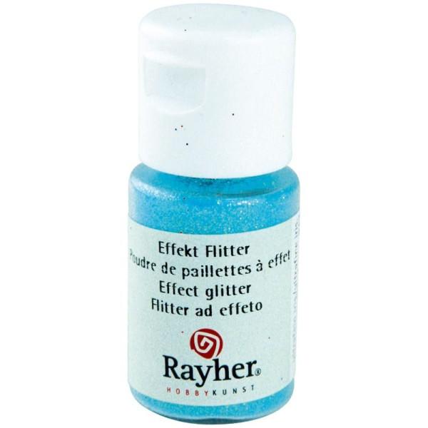 Poudre de paillettes à effet Bleu pastel 10 ml - Photo n°1