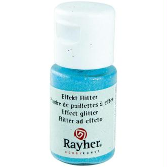 Poudre de paillettes à effet Bleu pastel 10 ml