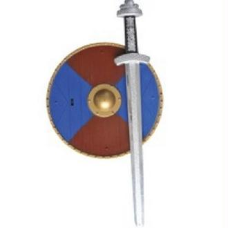 Panoplie armes avec épée et bouclier de 39cm
