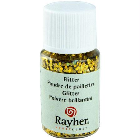 Paillettes hologramme Or brillant 10 ml - Photo n°1