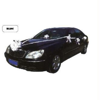 Kit blanc de décoration de voiture mariage