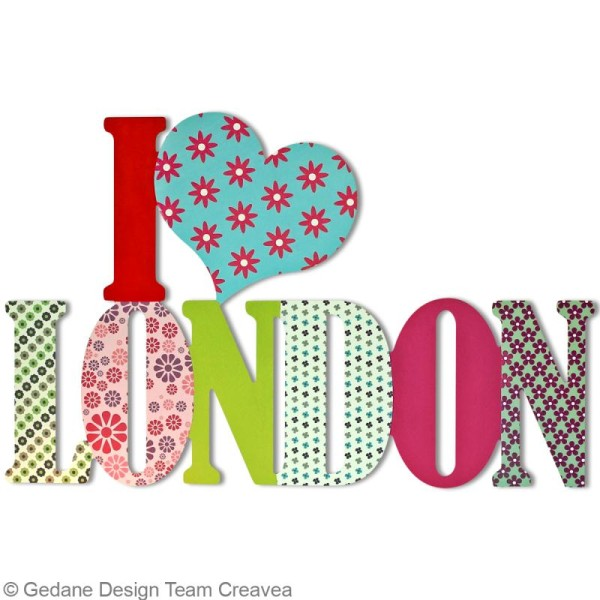 I love London en bois 58 cm - Photo n°2