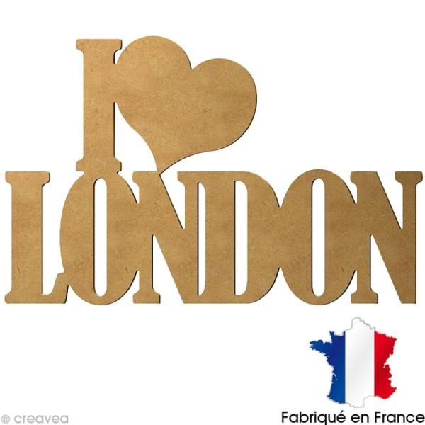 I love London en bois 58 cm - Photo n°1
