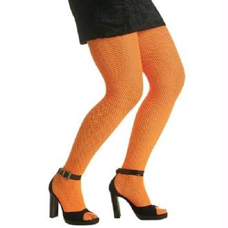 Collants Fluo Résilles Orange