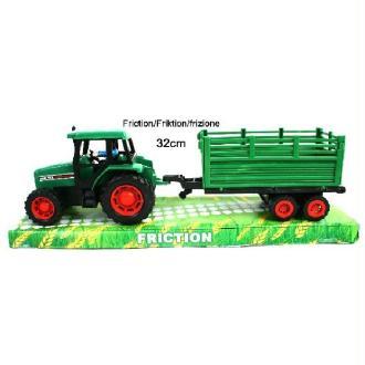 Tracteur à friction 32 cm + remorque