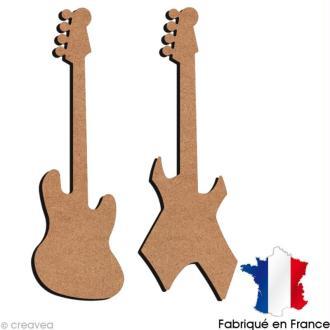 Guitares électriques en bois 30 cm
