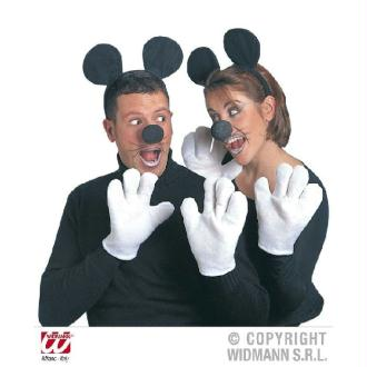 Set souris adulte oreilles, nez, gants