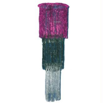 Chandelier géant déco salle (rose, noir, argent) -0.5 x 1.20 mètre