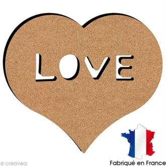 Coeur love en bois 15 cm