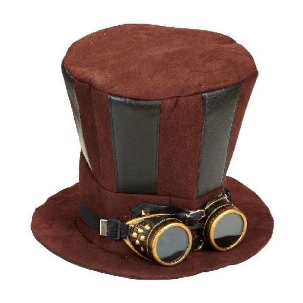 for whole family official store various design Haut de forme steampunk avec lunettes