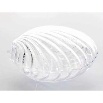 3 contenants coquillage en PVC transparent - 7 cm x 5.5 cm