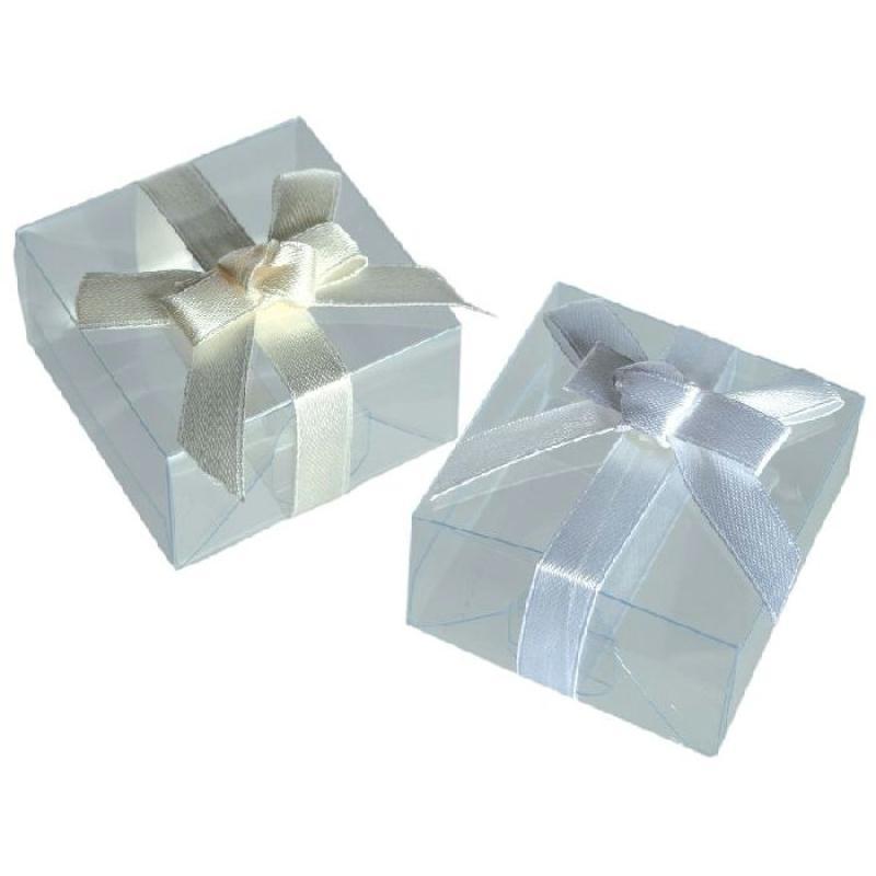 3 bo tes cadeau avec noeud 5 x 5 cm 3 couleurs assorties cadeaux et souvenirs de mariage. Black Bedroom Furniture Sets. Home Design Ideas