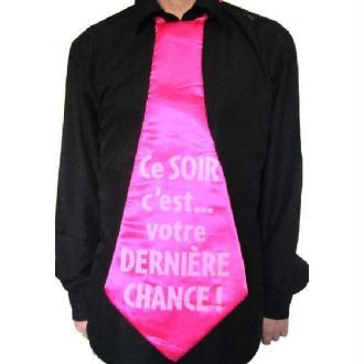 Maxi cravate rose
