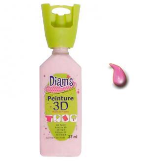 Peinture 3D Diam's Rose layette effet brillant - 37ml