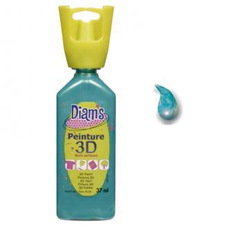 Peinture 3D Diam's Bleu tropical effet nacré - 37ml