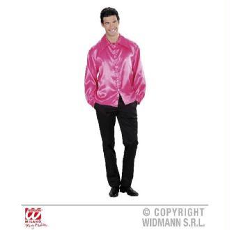 Chemise rose homme satinée - (42/44)