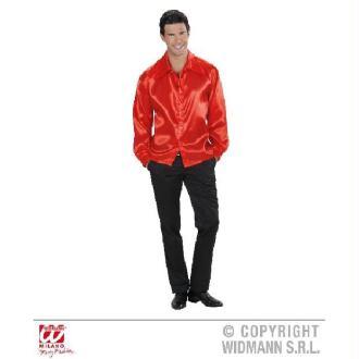 Chemise rouge homme satinée - (40/42)