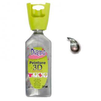 Peinture 3D Diam's Argent effet nacré - 37ml