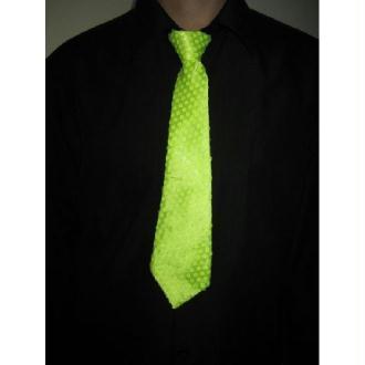 Cravate jaune fluo