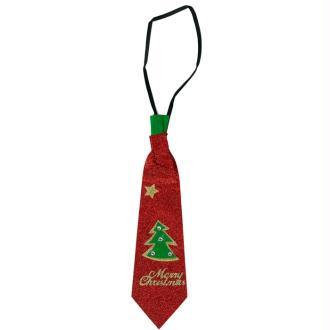 Cravate pailletée de noël 30 cm