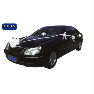 Kit de décoration voiture mariage bleu roy