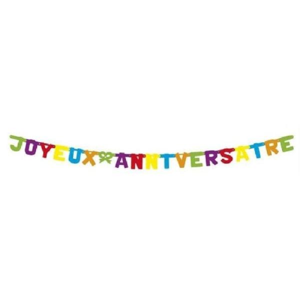 Bannière joyeuse anniversaire - Photo n°1