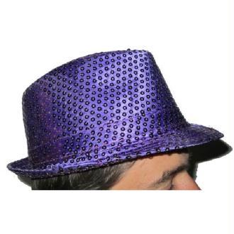 Borsalino violet pailleté fashion