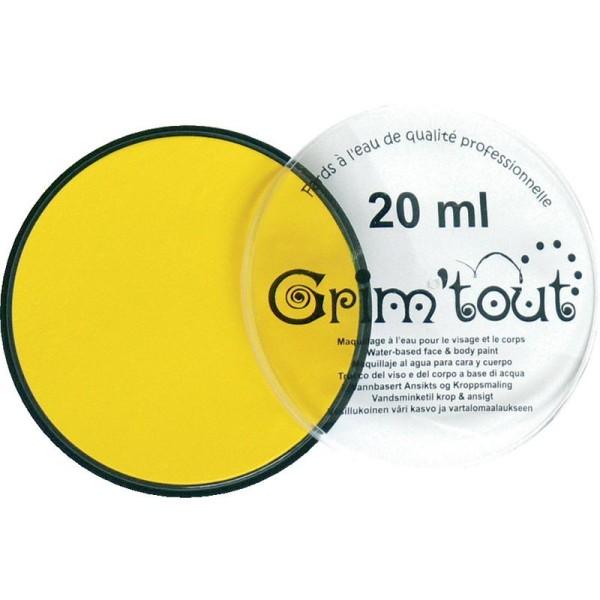 Maquillage professionnel Grim'tout Fard Jaune citron Galet 20 ml - Sans paraben - Photo n°1