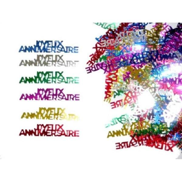 Sachet de confettis joyeux anniversaire 14 gr - Photo n°1