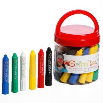 Seau de 34 crayons maquillage Grim'Tout
