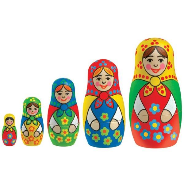 Kit Babouchka poupées russes à peindre - Photo n°2