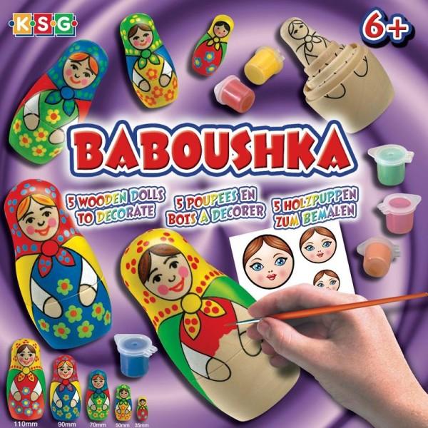 Kit Babouchka poupées russes à peindre - Photo n°3