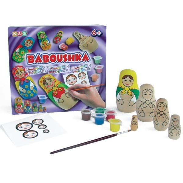 Kit Babouchka poupées russes à peindre - Photo n°1
