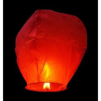 Lanterne céleste rouge 90 x 50 cm