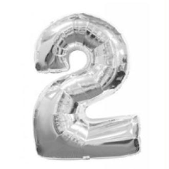 Ballon 2 argent 38 cm