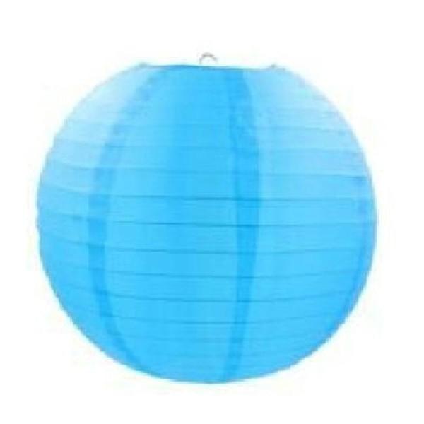 abat jour bleu Lampion abat jour bleu turquoise 20 cm - Photo n°1