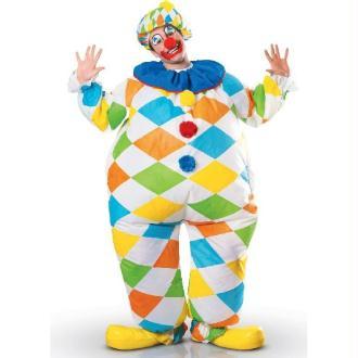 Déguisement clown gonflable d'animation