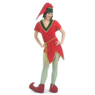 Déguisement elfe rouge - Taille M/L