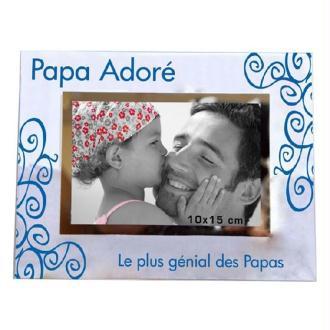 Cadre photo Papa adoré - 23 x 18 cm