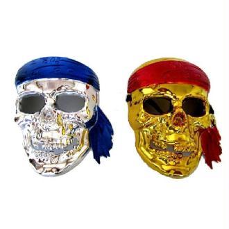 1 Masque skeleton 3D or ou argent