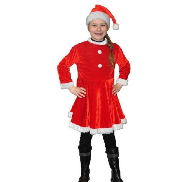 D guisement m re no l robe et bonnet velours fille 6 8 ans - Noel fille 8 ans ...